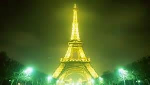 lighted Eiffel Tower