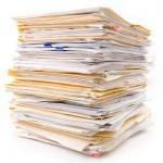 File folders pile
