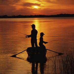 Jacob n Lev fishing silhouette