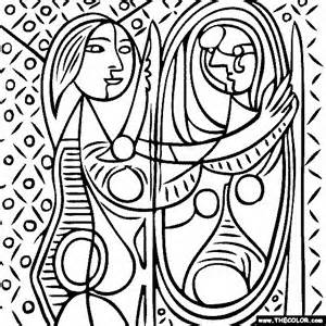 Picasso art coloring book