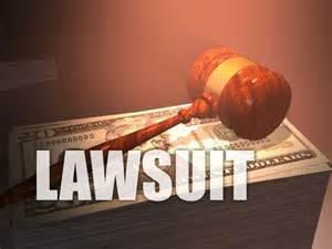 lawsuit word n gavel over money