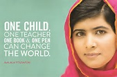 Malal Yousafzai with quote