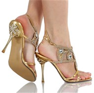 Lilli's gold shoes