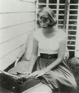 Sylvia Plath with typewriter