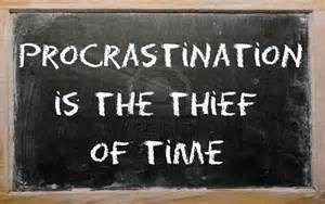 procrastination thief of time