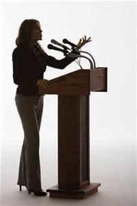speaker female at podium