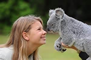 Bindi nose to nose with koala