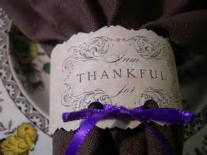 Thanksgiving thankful napkin