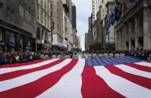 Veterans flag in NYC