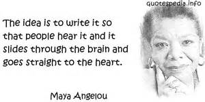 poetry angelou straight to heart