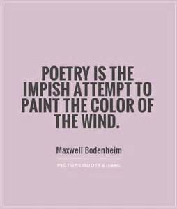 poetry to paint the wind