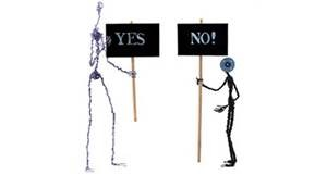 argument yes no stick people