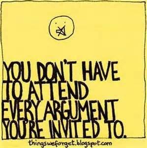 argument you don't have to attend