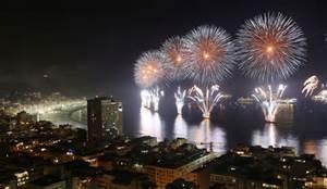 new years eve around the world white fireworks