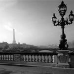 Paris Bridge black and white