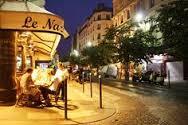Paris Cafe at night