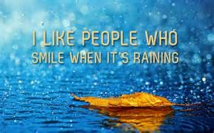 rain people who smile