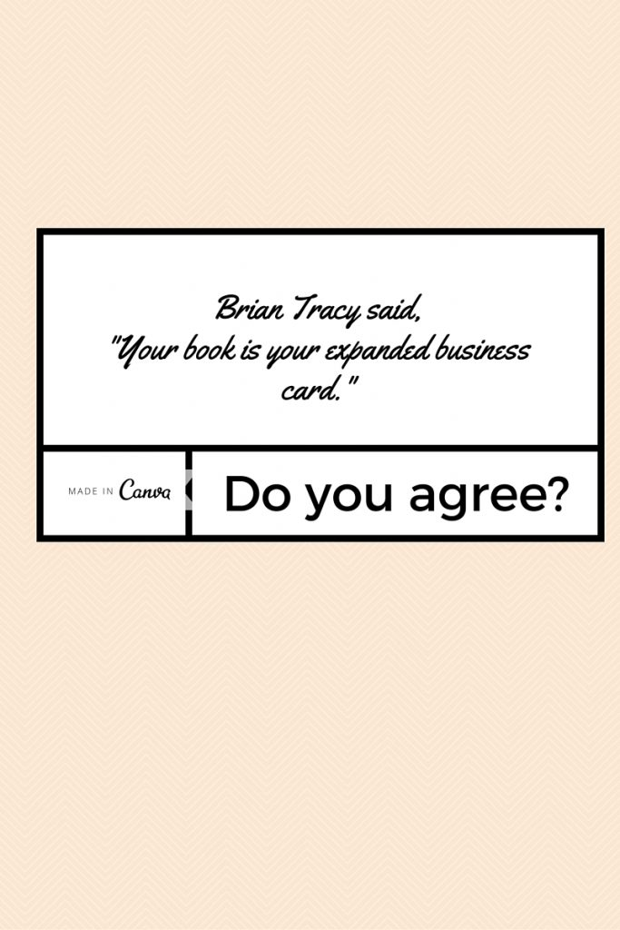 Book is business card