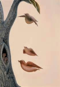 Octavio Ocampo birds and tree