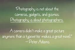 Photography like a typewriter