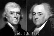 Jefferson and Adams on July 4th deaths