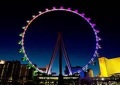 Las Vegas High Roller at night